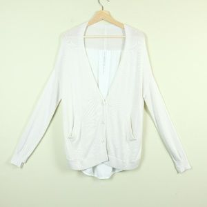 Lululemon Cardi In The Front  Heathered White